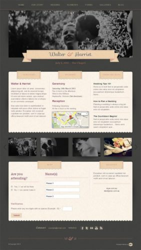 responsive wedding wordpress theme hitched 2 Best Wedding Themes