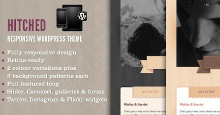 responsive wedding wordpress theme hitched Cost to Make a Responsive Wedding Site with Wordpress   Hitched