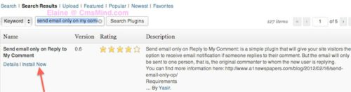wordpress send email only on my comments free plugin 2 Send Email When Reply to My Comment in Wordpress