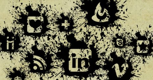 2013 social media icons black paint splatter Best of 2013 Free Social Media Icons for Bloggers