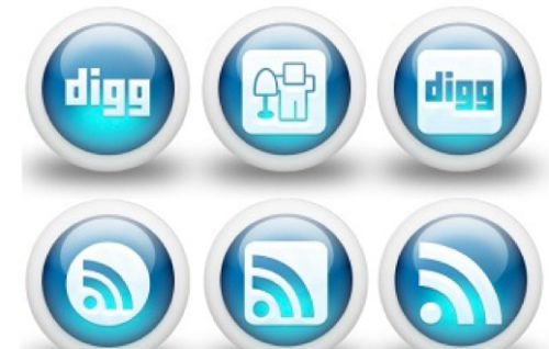 2013 social media icons blue glossy Best of 2013 Free Social Media Icons for Bloggers