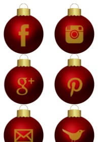 2013 social media icons christmas bauble Best of 2013 Free Social Media Icons for Bloggers