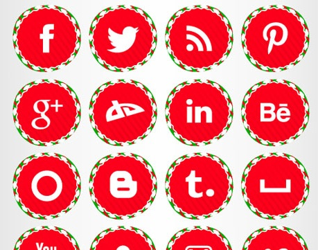 2013 social media icons christmas Best of 2013 Free Social Media Icons for Bloggers