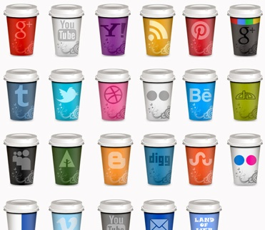 2013 Social Media Icons - Coffee Cups