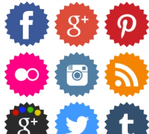 2013 Social Media Icons - Round Jagged Edge