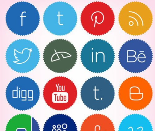 2013 social media icons minimalistic Best of 2013 Free Social Media Icons for Bloggers