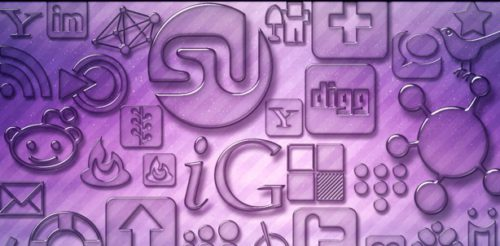 2013 social media icons purple transparent glass Best of 2013 Free Social Media Icons for Bloggers