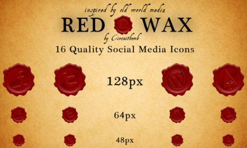 2013 social media icons red wax Best of 2013 Free Social Media Icons for Bloggers