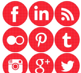 2013 social media icons round red check Best of 2013 Free Social Media Icons for Bloggers