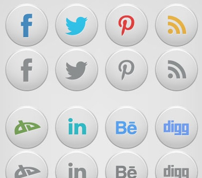 2013 social media icons white premium Best of 2013 Free Social Media Icons for Bloggers