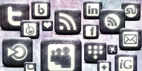 2013 Social Media Icons - White Washed