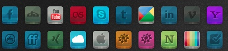 2013 Social Media Icons - Yaruno 3D Buttons
