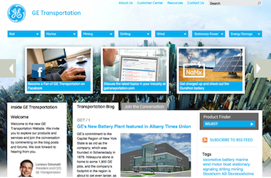 GE Transportation website businesses using joomla 10 30 Businesses Using Joomla For Their Website