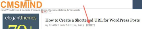 Wordpress Tutorial create shortened url for wordpress post edit wordpress post How to Create a Shortened URL for Wordpress Posts