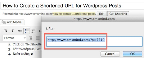 Wordpress Tutorial create shortened url for wordpress post shortened URL How to Create a Shortened URL for Wordpress Posts