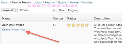 add favicon to wordpress site install free wordpress plugin 1 How to Add a Favicon to your Wordpress Website