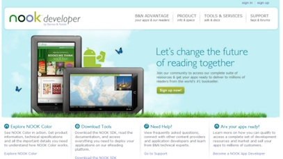 Barnes & Noble Nook Developer using Joomla for website