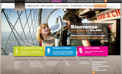 Eiffel Tower Website uses Joomla