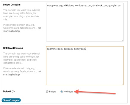 Free WordPress Plugin - Default External Links to NoFollow