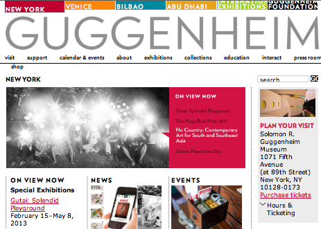 Guggenheim Museum uses Joomla for website