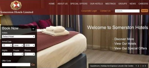 Holiday Inn uses Joomla for Website