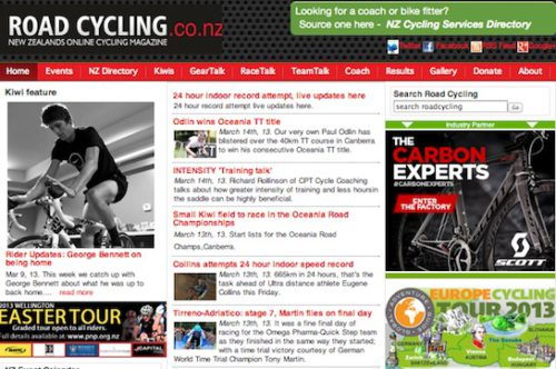 New Zealand Online Road Cycling Magazine uses Joomla for Website