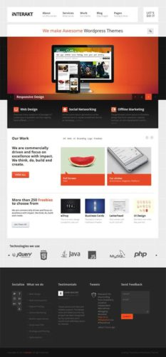 responsive business portfolio wordpress theme interakt 2 Create a Responsive Business Agency Website with Wordpress   Interakt