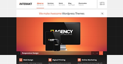 responsive business portfolio wordpress theme interakt Cost to Make a Site with Business Agency Wordpress Theme   Interakt