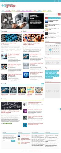 Responsive Gossip Magazine WordPress Theme - The Gossip