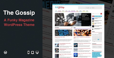 Features of Responsive Magazine WordPress Theme - The Gossip