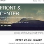 Click to visit Minimalistic Portfolio Wordpress Theme - Hardy
