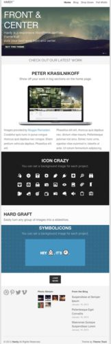 responsive minimalistic portfolio wordpress theme hardy Cost to Make a Site with Minimalistic Portfolio WordPress Theme – Hardy