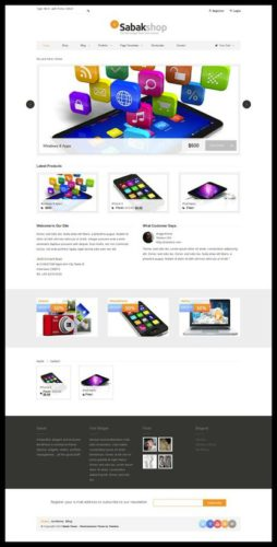 responsive online store business portfolio Sabak store WooCommerce Tokokoo Cost to Make an Online Store and Business Portfolio Wordpress Theme   Sabak