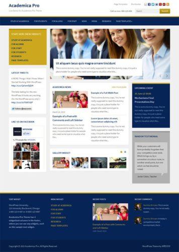 responsive school wordpress theme academica pro wpzoom 2 Best Business Themes