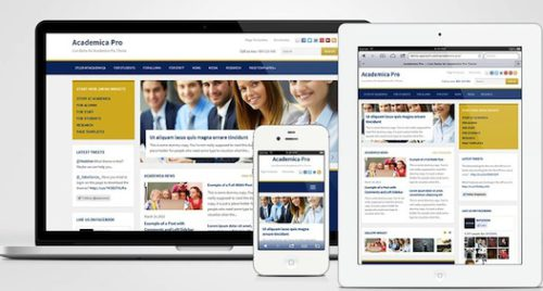 responsive school wordpress theme academica pro wpzoom features Cost to Make a School Site with Wordpress Theme   Academica Pro
