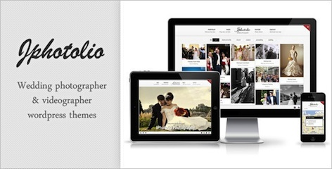 responsive wedding photography portfolio wordpress theme JPhotolio features Best Wedding Themes