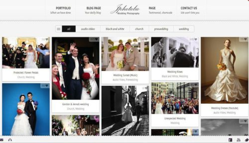 Responsive Wedding Photography WordPress Theme - JPhotolio