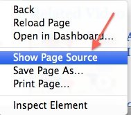 Show HTML Page Source in Safari on a Mac