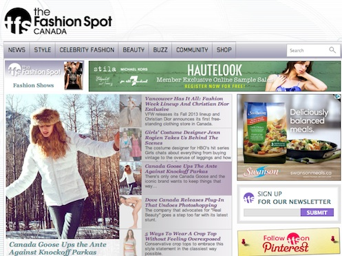 The Fashion Spot Magazine uses Joomla for Website