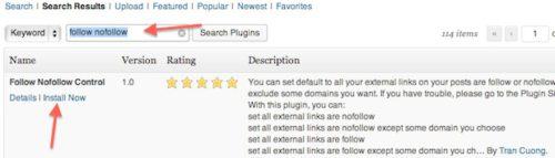 Install Follow NoFollow Control Free WordPress Plugin