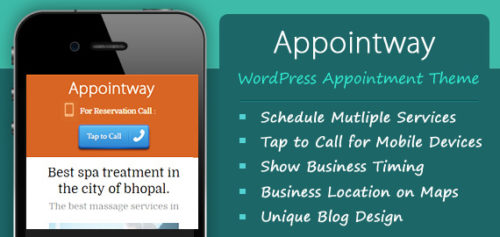 Responsive Appointment Booking Reservation Wordpress Theme Appointway features Best Business Themes