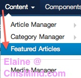 Joomla 3.0 - Content Manager Featured Articles