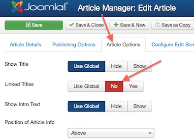 Joomla 3.0 Edit Featured Article Options