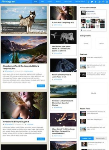 Responsive Pinterest-Inspired WordPress Theme - Pinstagram