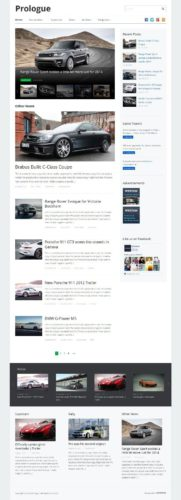 responsive car auto blog wordpress theme prologue Cost to Build an Auto Blog Site with Wordpress   Prologue