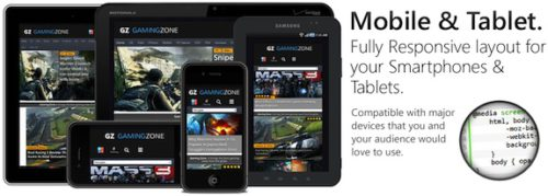 Responsive Game Review Magazine WordPress Theme - GamingZone