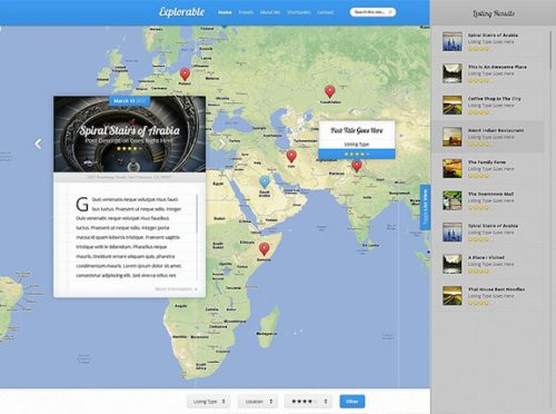 responsive travel website ratings reviews wordpress theme explorable Cost to Make a Location Based Site with Wordpress   Explorable