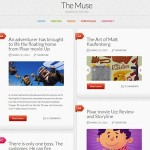 Click to visit Responsive Tumblr Clone Wordpress Theme - The Muse