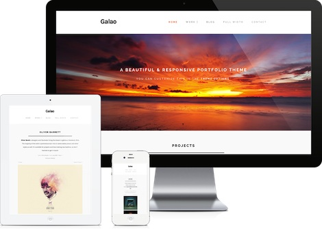 retina ready responsive portfolio wordpress theme galao features Cost to Make a Retina Ready Responsive Portfolio Site with Wordpress   Galao