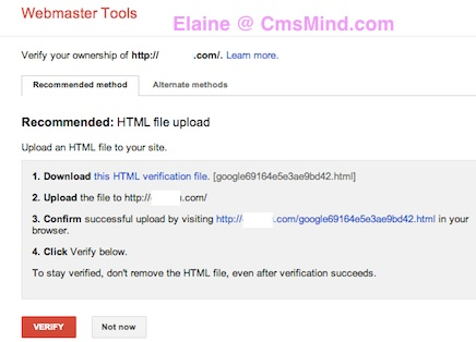 submit xml sitemap to google webmaster tools verify methods 4 How to Submit XML Sitemap to Google Webmaster Tools